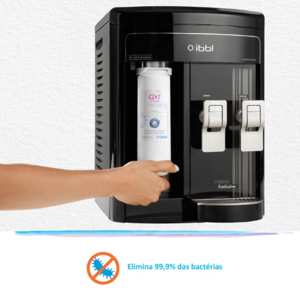 FR600 Exclusive Preto elimina bactérias