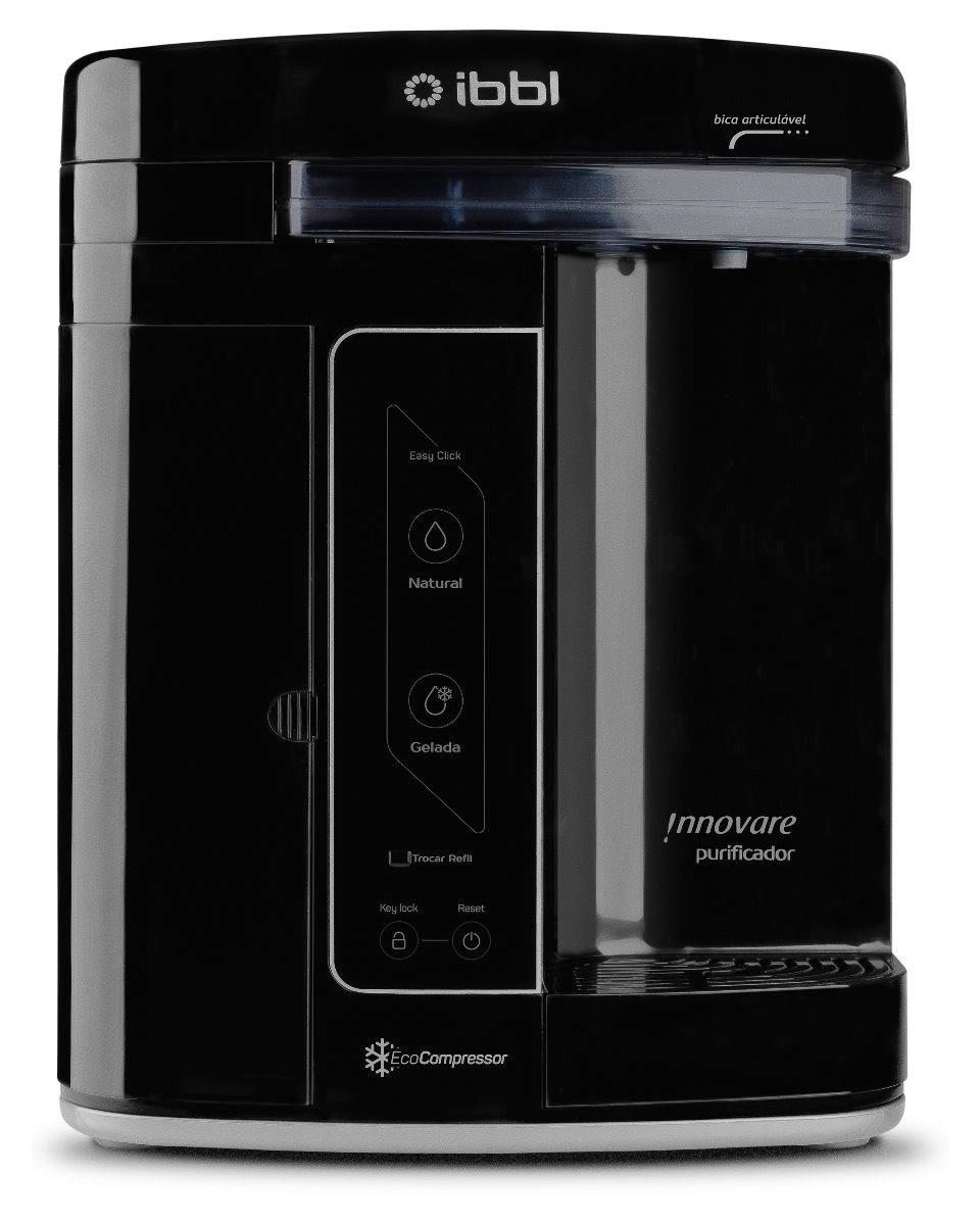 purificador innovare preto água gelada